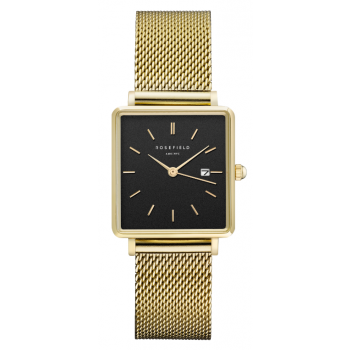 ROSEFIELD THE BOXY BLACK - GOLD / 33MM