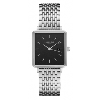 ROSEFIELD THE BOXY BLACK - SILVER / 33MM