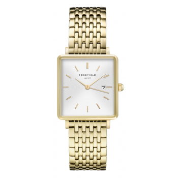 ROSEFIELD THE BOXY WHITE SUNRAY - GOLD / 33MM