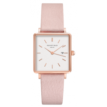 ROSEFIELD THE BOXY WHITE - PINK / 33MM