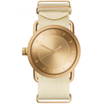 TID Watches No.1 36 Gold / Off-White Nylon Wristband
