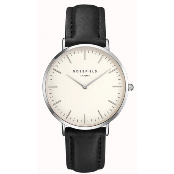 ROSEFIELD THE BOWERY SILVER WHITE - BLACK / 38MM