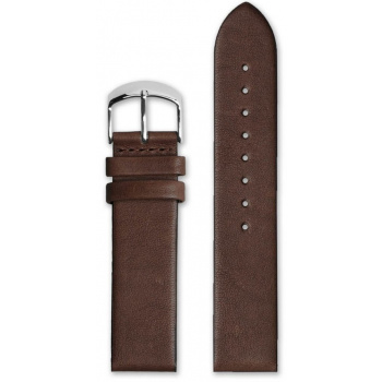 HYPERGRAND CLASSIC BROWN LEATHER STRAP 20 MM SILVER