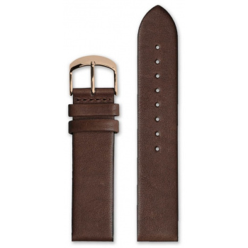 HYPERGRAND CLASSIC BROWN LEATHER STRAP 20 MM ROSE GOLD