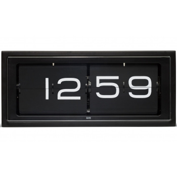 LEFF wall/desk clock brick copper 24h black/black