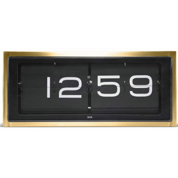 LEFF wall/desk clock brick copper 24h brass/black