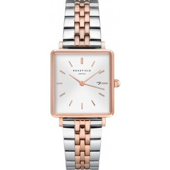 ROSEFIELD THE BOXY - Silver Rose gold / 33mm + DÁREK