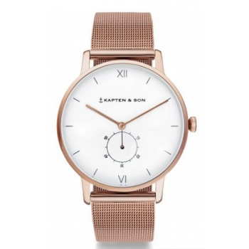 KAPTEN and SON HERITAGE ROSE GOLD MESH
