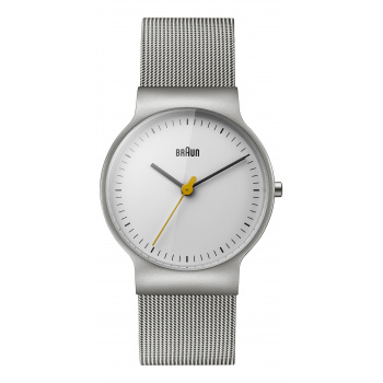 BRAUN LADIES BN0211 CLASSIC SLIM WATCH WITH MESH BRACELET/SILVER