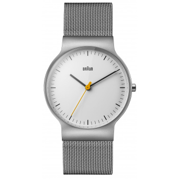 BRAUN  GENTS BN0211 CLASSIC SLIM WATCH WITH MESH BRACELET/SILVER