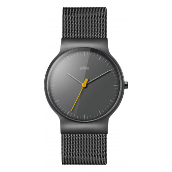 BRAUN GENTS BN0211 CLASSIC SLIM WATCH WITH MESH BRACELET/GREY