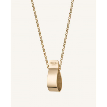 ROSEFIELD FOLDED CHARM NECKLACE GOLD