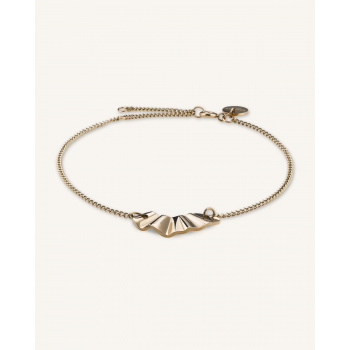 ROSEFIELD LIQUID WAVED CHARM BRACELET GOLD
