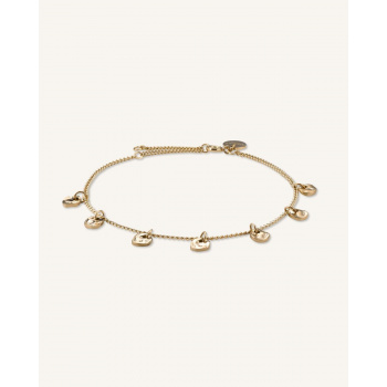ROSEFIELD MULTI LIQUID CHARMS BRACELET GOLD