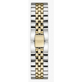 ROSEFIELD THE ACE STRAP STEEL SILVER GOLD DUO / 38 MM