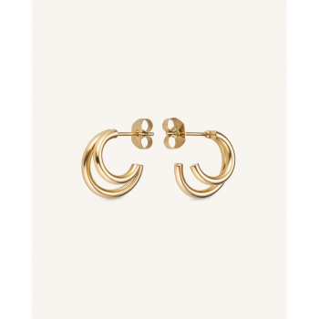 ROSEFIELD DOUBLE HOOP SMALL GOLD