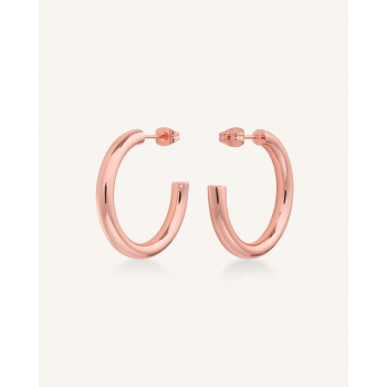 ROSEFIELD CLASSIC HOOP SMALL ROSE GOLD