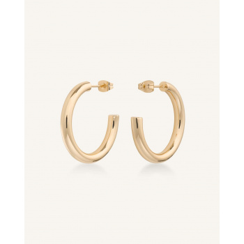 ROSEFIELD CLASSIC HOOP SMALL GOLD