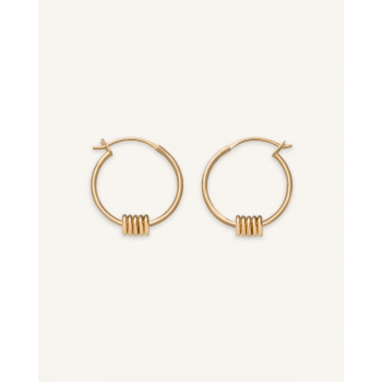 ROSEFIELD MULTI HOOP SMALL GOLD