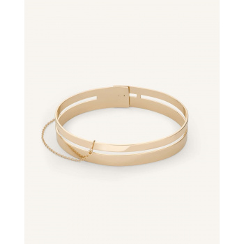 ROSEFIELD DOUBLE BAR BANGLE GOLD