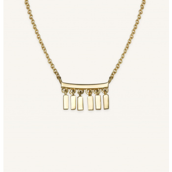 ROSEFIELD MULTI DROP NECKLACE GOLD