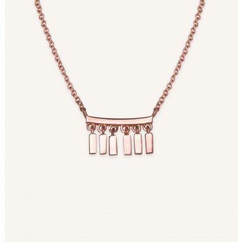 ROSEFIELD MULTI DROP NECKLACE ROSE GOLD