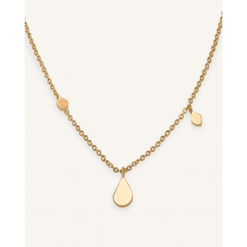 ROSEFIELD SHAPED DROP NECKLACE GOLD