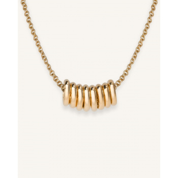ROSEFIELD MULTI HOOP NECKLACE GOLD