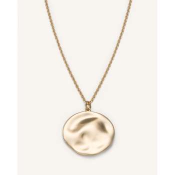 ROSEFIELD TEXTURED COIN NECKLACE GOLD
