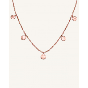 ROSEFIELD TEXTURED COINS DOUBLE WRAP ROSE GOLD