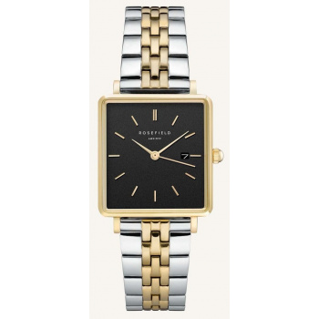 ROSEFIELD THE BOXY BLACK SILVER GOLD DUO  / 33 MM