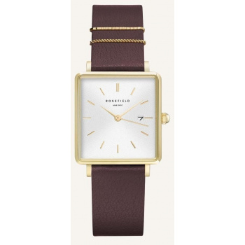 ROSEFIELD THE BOXY WHITE SUNRAY AUBERGINE GOLD / 33 MM