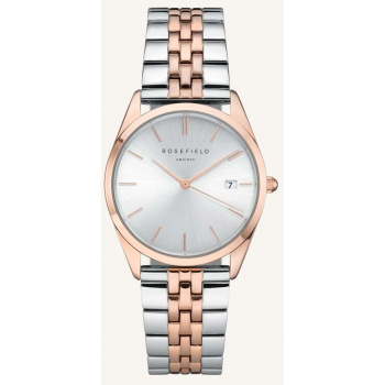 ROSEFIELD THE ACE SILVER SUNRAY SILVER ROSEGOLD DUO / 38 MM