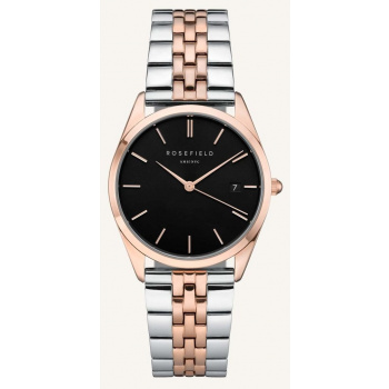 ROSEFIELD THE ACE BLACK SILVER ROSEGOLD DUO / 38 MM
