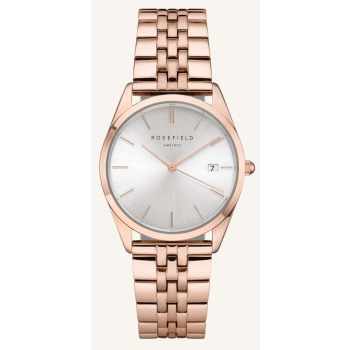 ROSEFIELD THE ACE SILVER SUNRAY ROSEGOLD / 38 MM