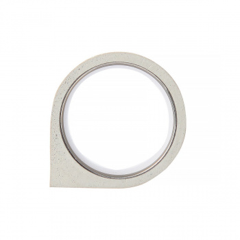 22 DESIGN STUDIO Corner Ring White