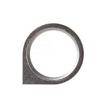22 DESIGN STUDIO Corner Ring THIN Dark Grey