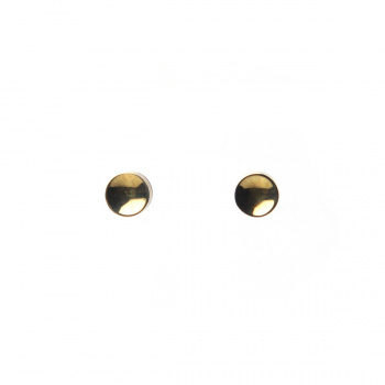 22 DESIGN STUDIO Mirror Concave Earring Brass