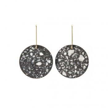 22 DESIGN STUDIO Circle Earring Dark Grey
