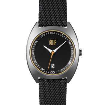 ROUE CAL FOUR SILVER CASE BLACK AND WHITE DIAL
