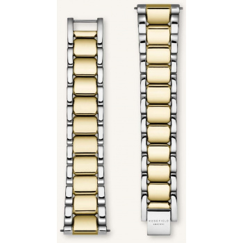 ROSEFIELD TRIBECA SILVER-GOLD STRAP 33MM