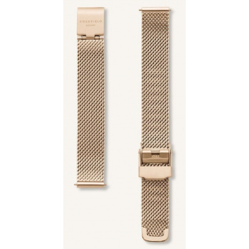 ROSEFIELD THE BOXY MESH GOLD STRAP 22MM