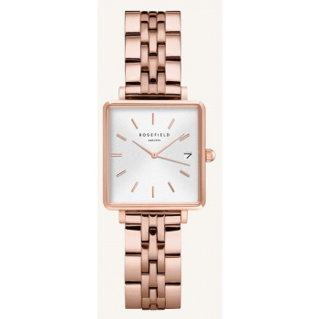 ROSEFIELD THE BOXY XS WHITE ROSE GOLD 22MM