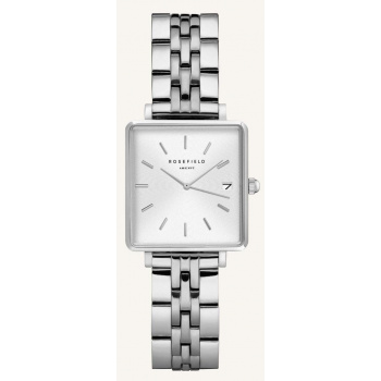ROSEFIELD THE BOXY XS WHITE SILVER 22MM