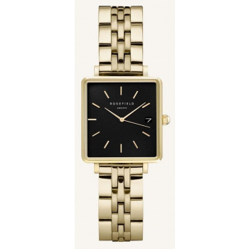 ROSEFIELD THE BOXY XS BLACK GOLD 22MM