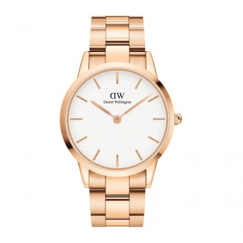 DANIEL WELLINGTON ICONIC LINK 36 mm Rose Gold White - DW00100209