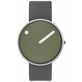 PICTO 40 MM FRESH OLIVE/CIRCULAR BRUSHED STEEL 43396-6220S
