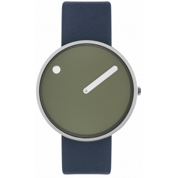 PICTO 40 MM FRESH OLIVE/CIRCULAR BRUSHED STEEL 43396-6720S