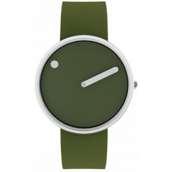 PICTO 40 MM FRESH OLIVE/CIRCULAR BRUSHED STEEL 43396-7764S