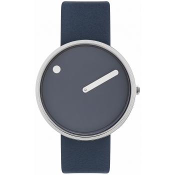 PICTO 40 MM NAVY BLUE/POLISHED STEEL 43393-6720S